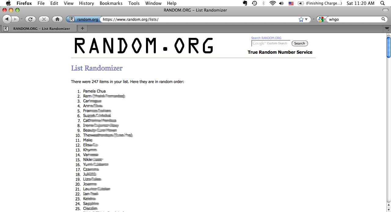 random event generator online