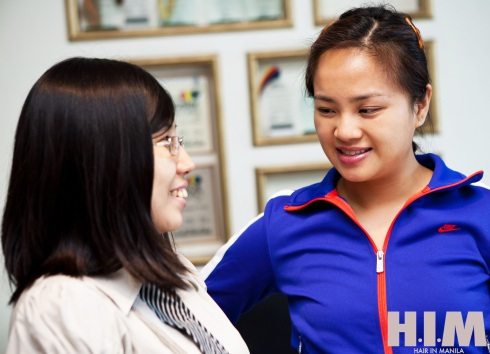 Hair consultation with Karina of Regine's Salon